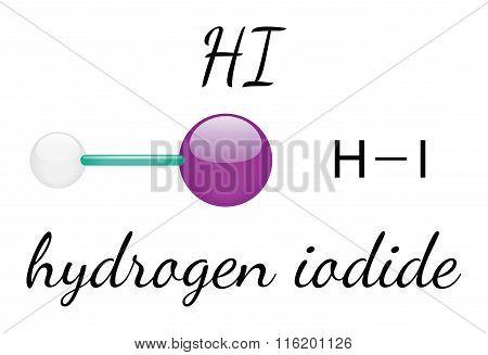 HI hydrogen iodide molecule