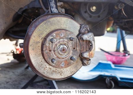 Old Front Disk Brake Assembly Repair