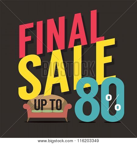 Furniture Final Sale Up To 80 Percent.