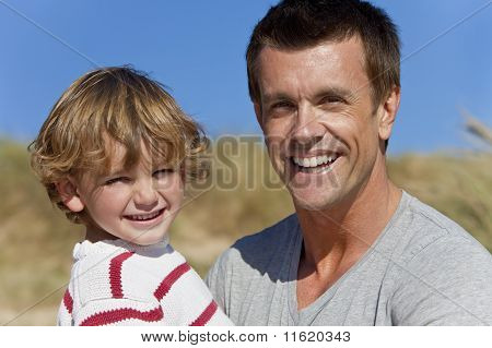 Man & Boy, Father And Son Having Fun Outside