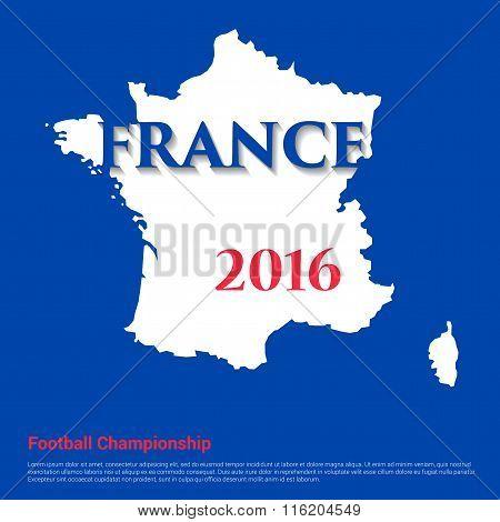 France map. Football Championship