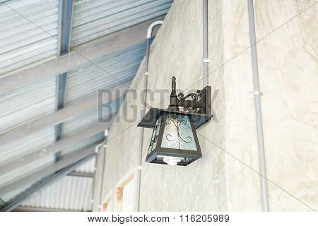 Lantern Lamp On Wall