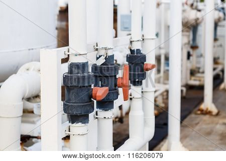 Valve for DI water control in factory