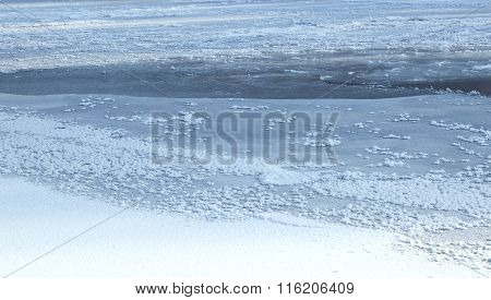 Texture Frozen Of The River