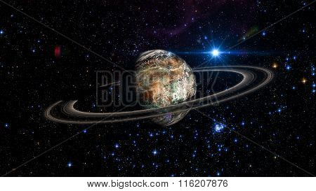 Alien Exo Planet. Elements Of This Image Furnished By Nasa