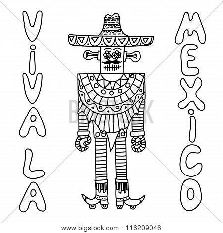 Mexican robot with sombrero