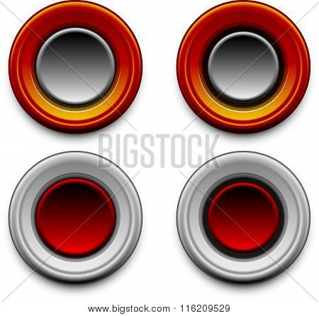 button vector multiple versions