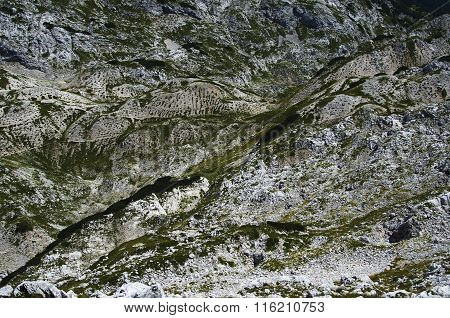 Moonscape In The Mountains II., Abstract, Julian Alps