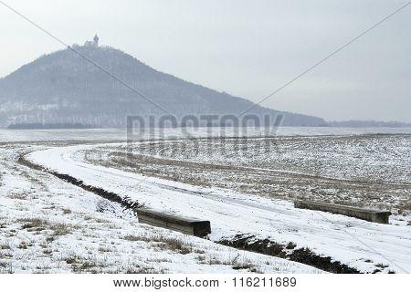 Snowy Path Beneath The Castle