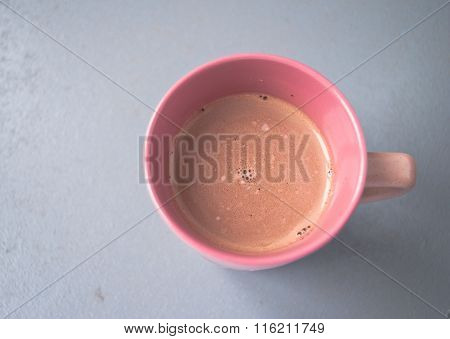Pink Cup Of Hot Cocoa