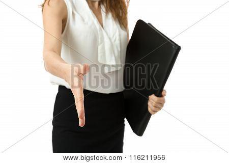 Business Woman Hand Shake