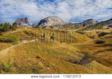 Mount Sass de Stria, Falyarego path, Dolomites