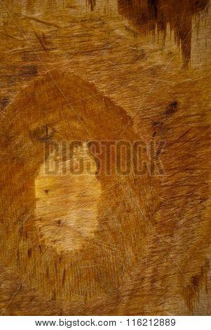 Unpainted shabby wooden board