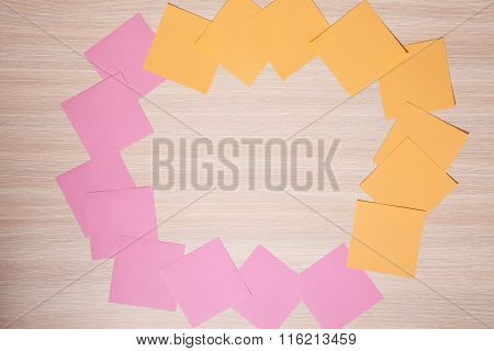 Sticky Notes And Copy Space