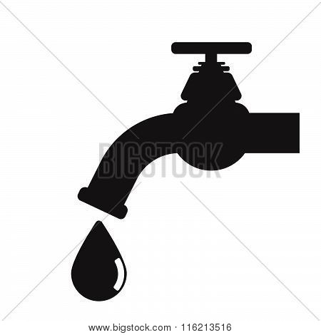 Water tap vector illustration silhouette