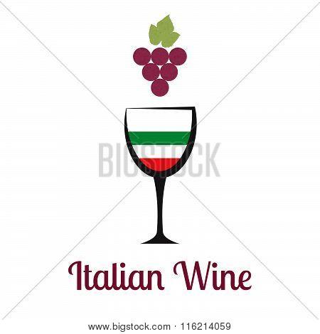 Italian Wine Vector Logo