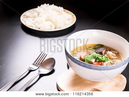 Tom Yum Gai, Spicy Chicken Soup,Thai Food.