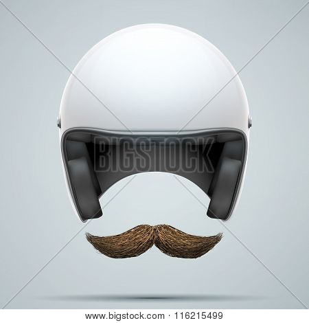 Motorcyclist symbol with mustache