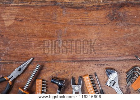 Various Kinds Of Tools, View From The Top And Copy Space
