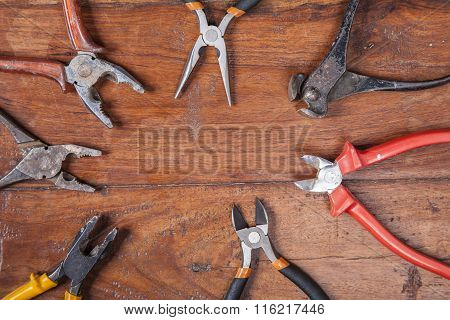 Nippers, Pliers And Other Tools, Copy Space