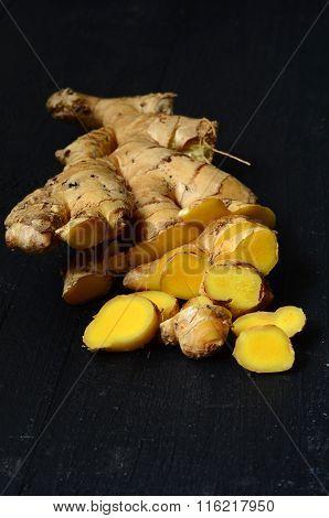 Ginger Root Closeup