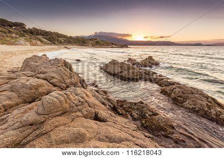 Plage De Petra Muna Near Calvi In Corsica