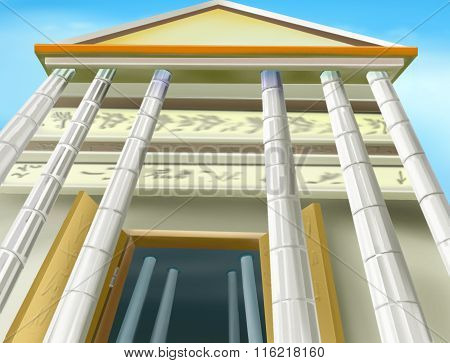 Portico of an Ancient Temple