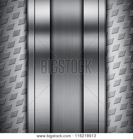 Silver Metallic Texture Background