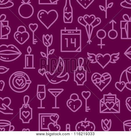 Valentines Day Love seamless pattern