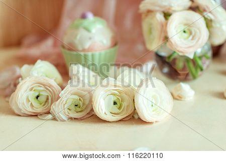 bouquet of pink ranunkulyus