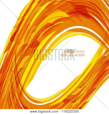Abstract background with orange stripes