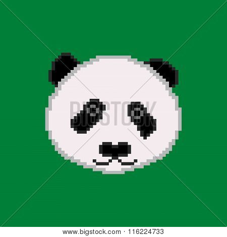 Lovely pixel panda