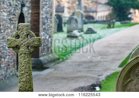 Headstone In A Graveyard