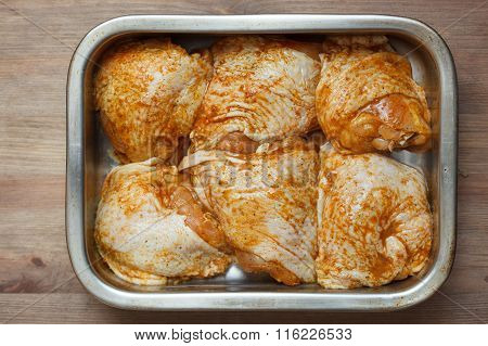 Grilled Chicken Legs In Pan