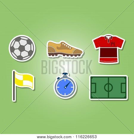 color set with soccer icons