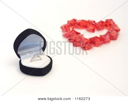 Ring With Heart Of Stones