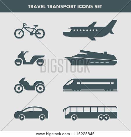 Travel Transport Icons Set