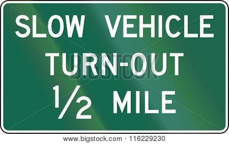United States Mutcd Guide Road Sign - Slow Vehicle Turn-out
