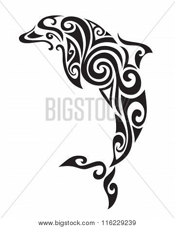 Ornamental decorative dolphin