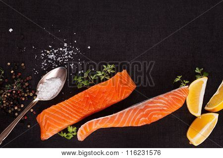 Salmon Background With Copyspace.
