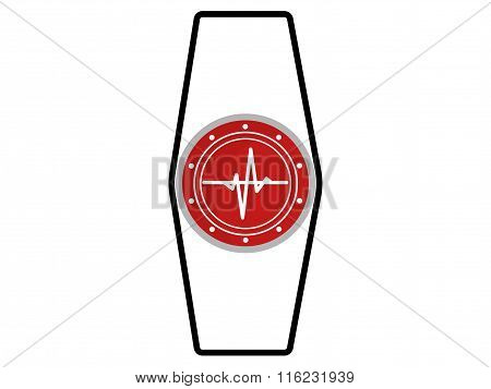 Smart Watches, Fitness Tracker. Icon Isolated On White Background. Minimalistic.