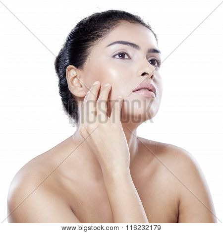 Attractive Model After Facial Treatment