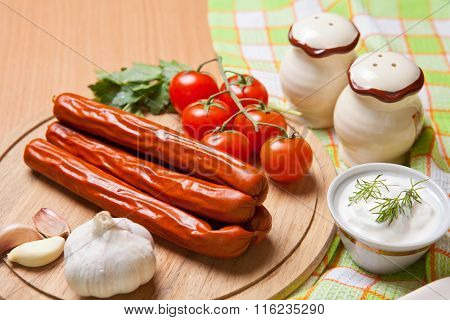 Hunting Sausages With Vegetables