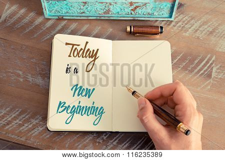 Written Text Today Is A New Beginning
