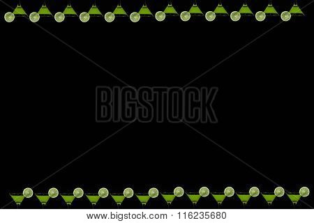 Vertical Black Background With Glasses Of Of Orange Juice
