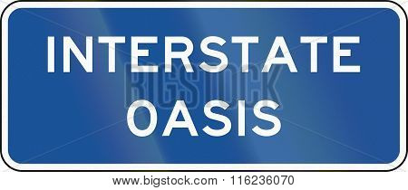 United States Mutcd Road Sign - Interstate Oasis