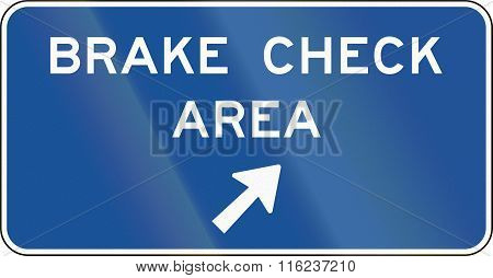 United States Mutcd Guide Road Sign - Brake Check Area