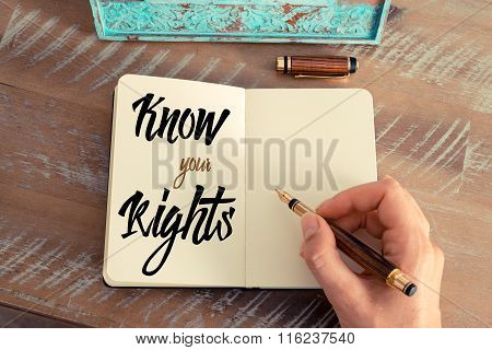 Written Text Know Your Rights