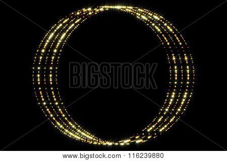 Abstract Form And Black Background