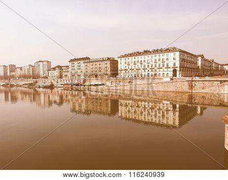 River Po, Turin Vintage
